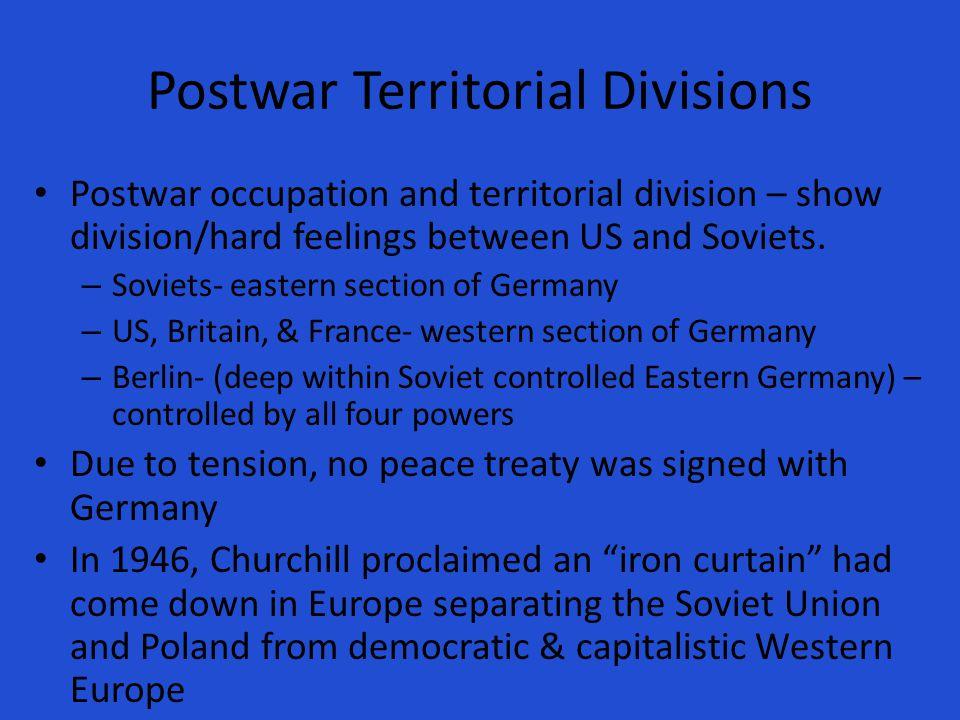 Postwar Territorial Divisions