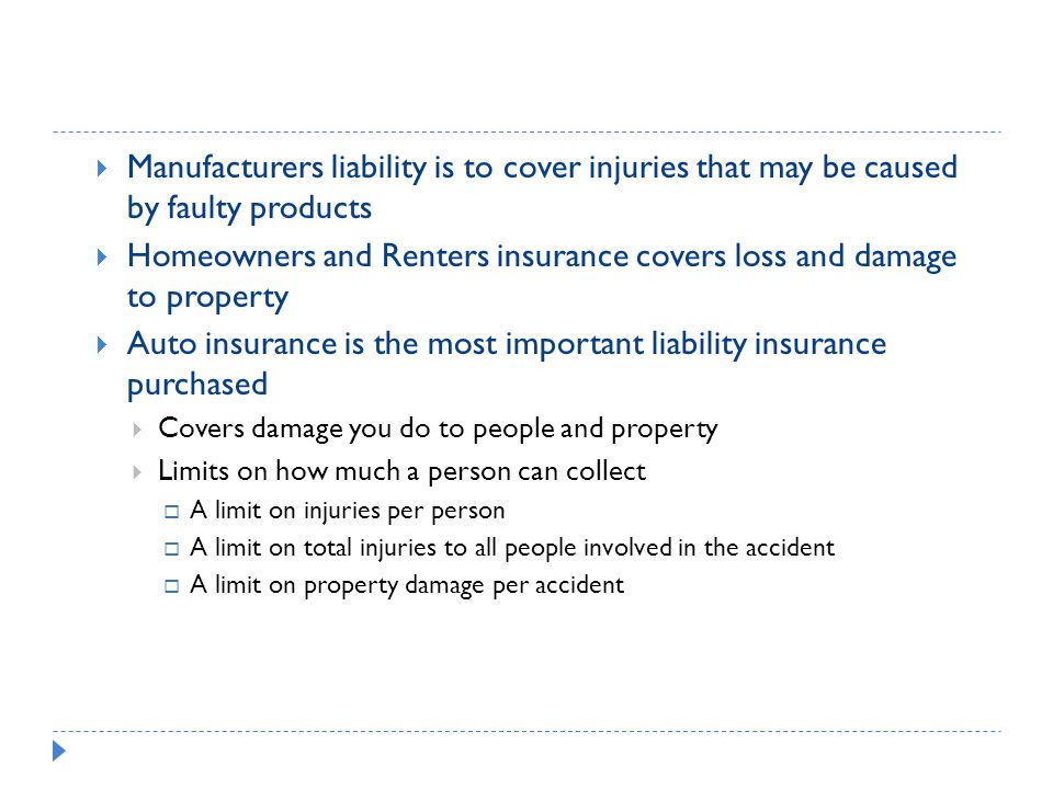 Homeowners and Renters insurance covers loss and damage to property