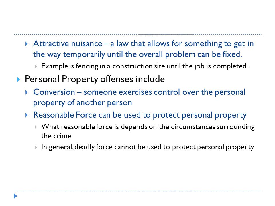Personal Property offenses include