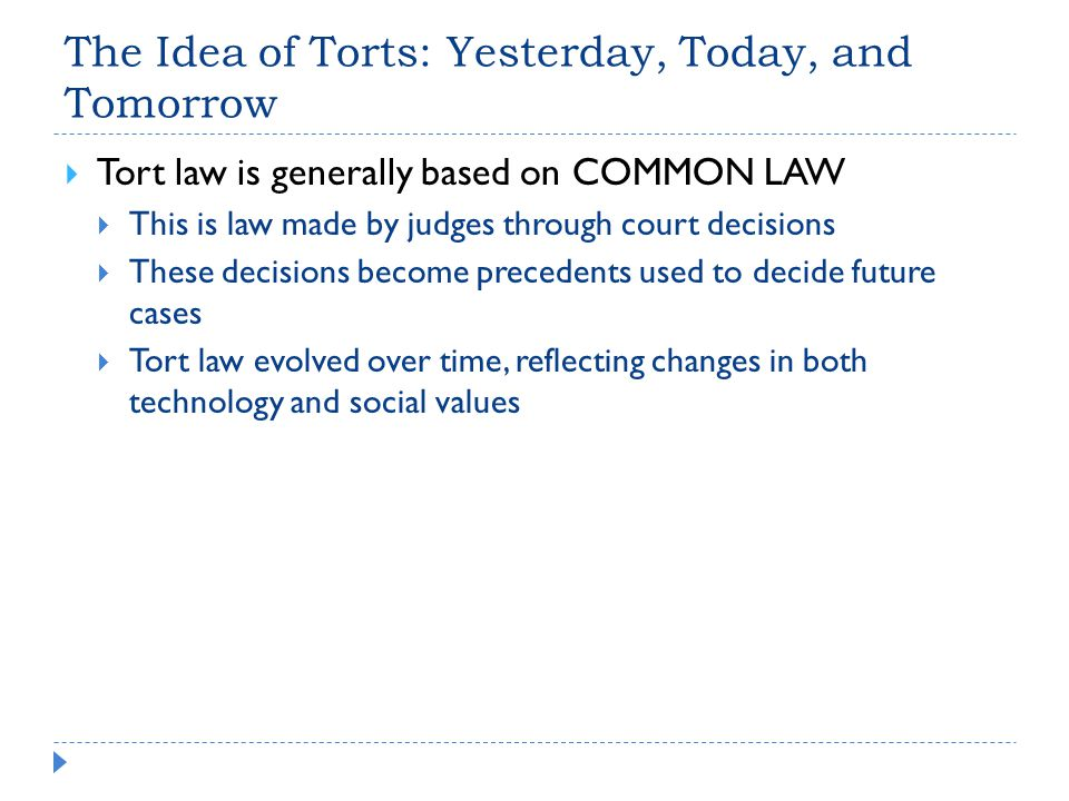 The Idea of Torts: Yesterday, Today, and Tomorrow