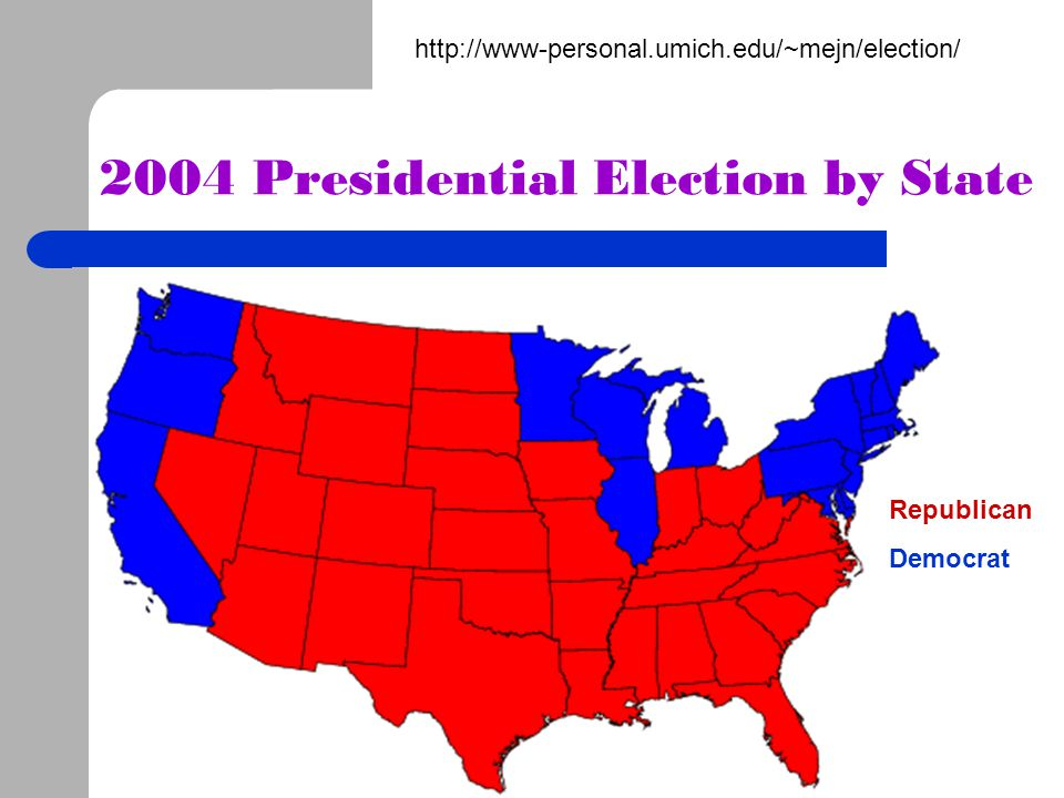 2004 Presidential Election by State