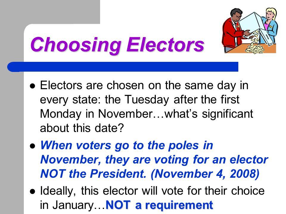 Choosing Electors