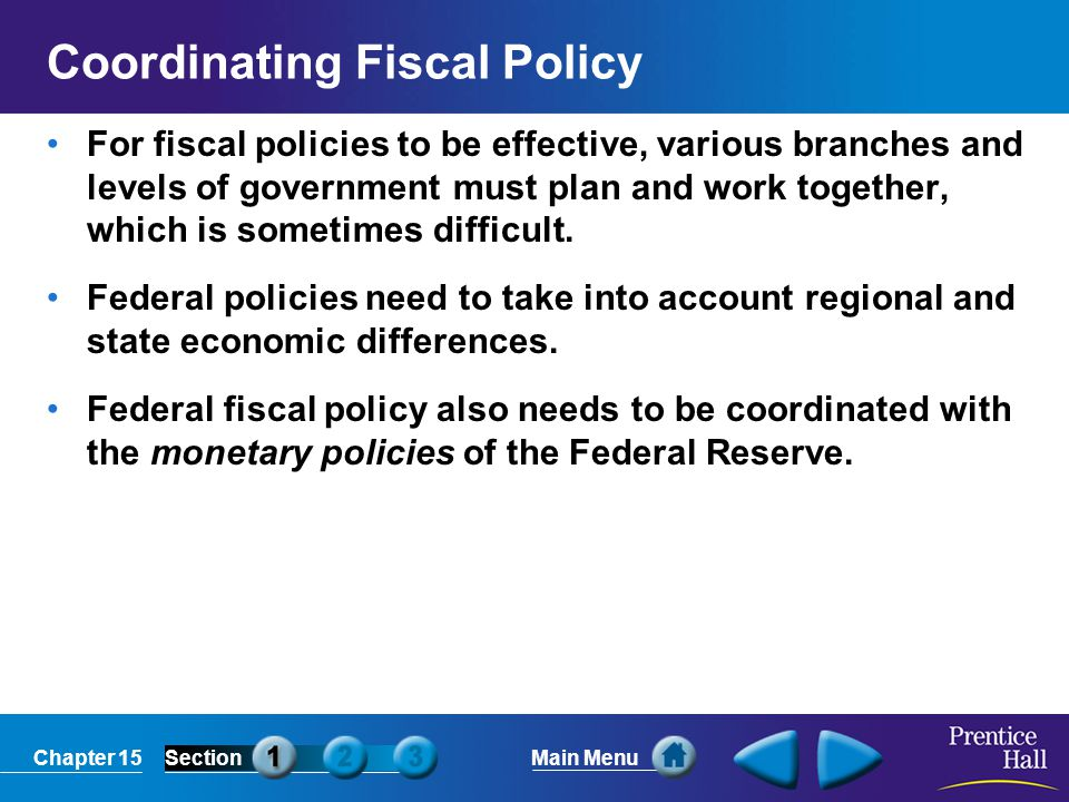 Coordinating Fiscal Policy