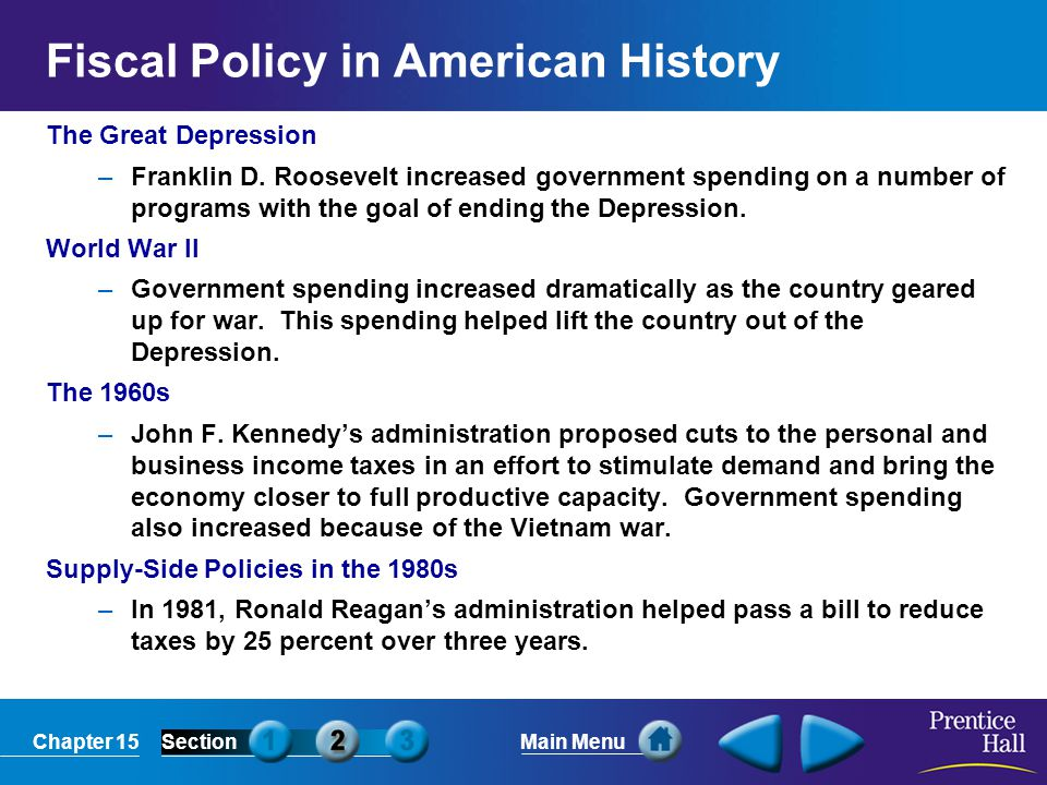 Fiscal Policy in American History
