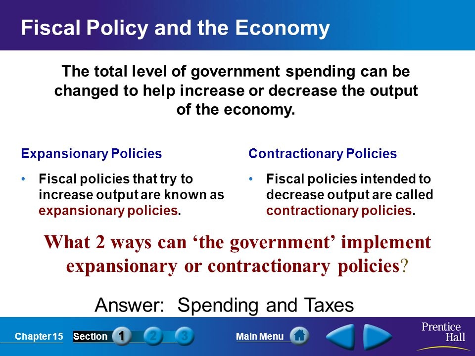 Fiscal Policy and the Economy