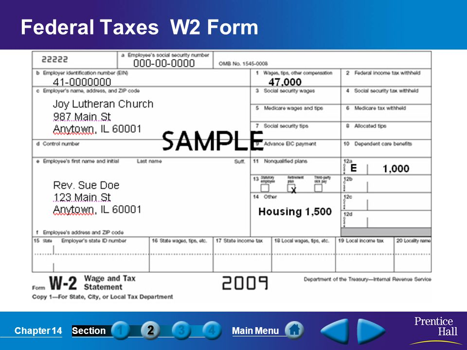 Federal Taxes W2 Form