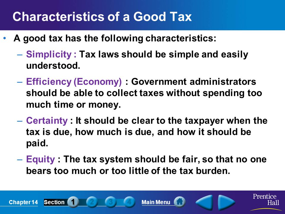 Characteristics of a Good Tax