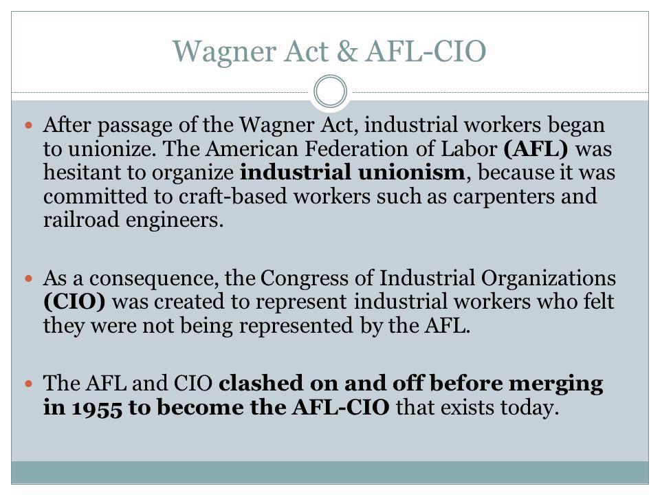 Wagner Act & AFL-CIO