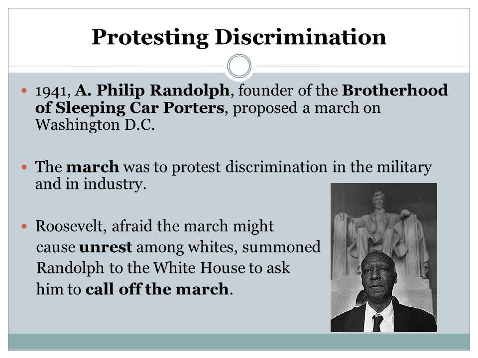 Protesting Discrimination