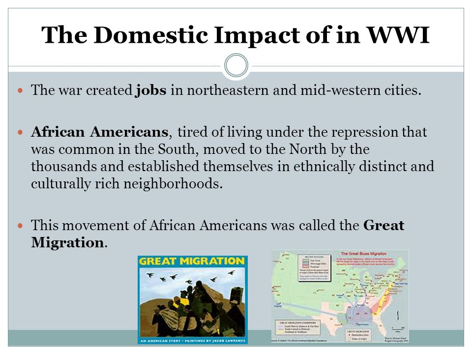 The Domestic Impact of in WWI