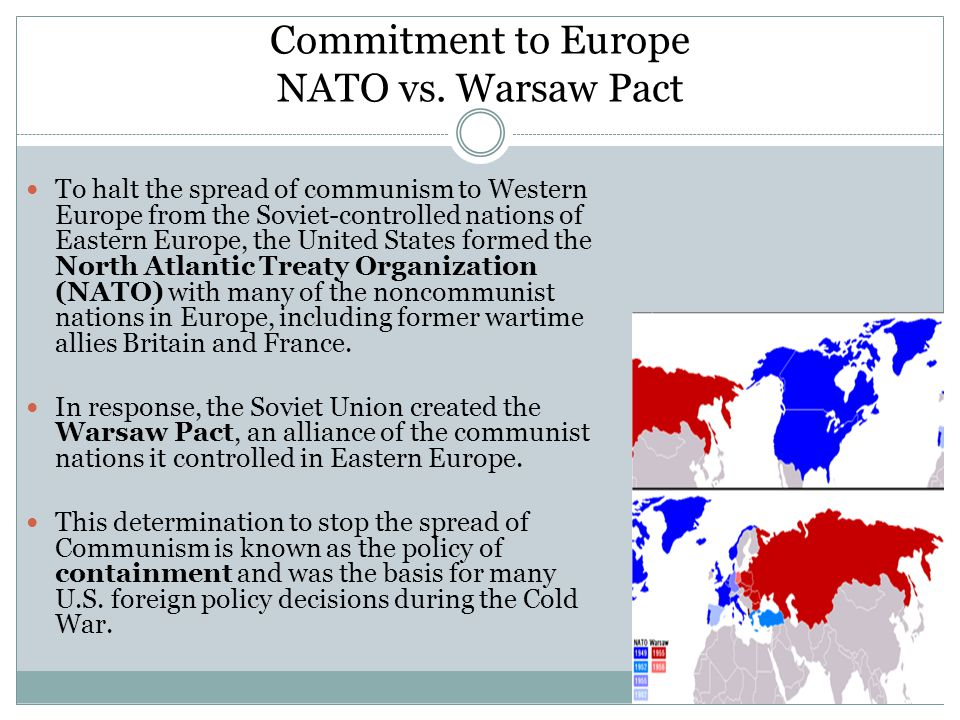 Commitment to Europe NATO vs. Warsaw Pact