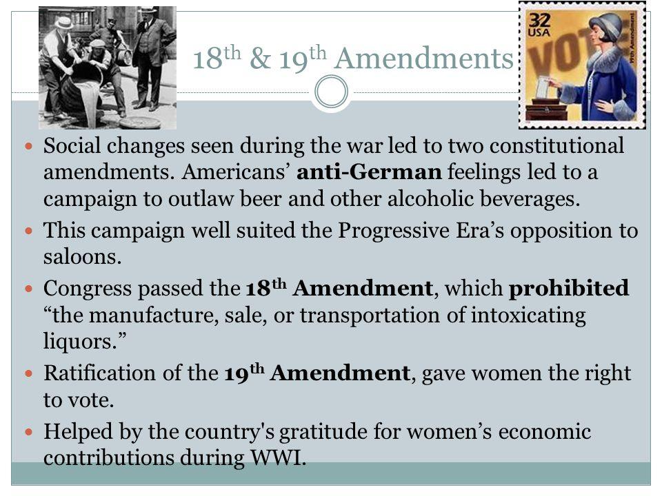 18th & 19th Amendments