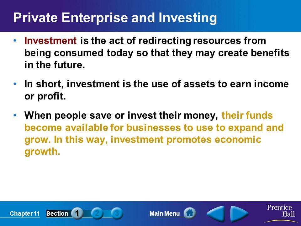 Private Enterprise and Investing