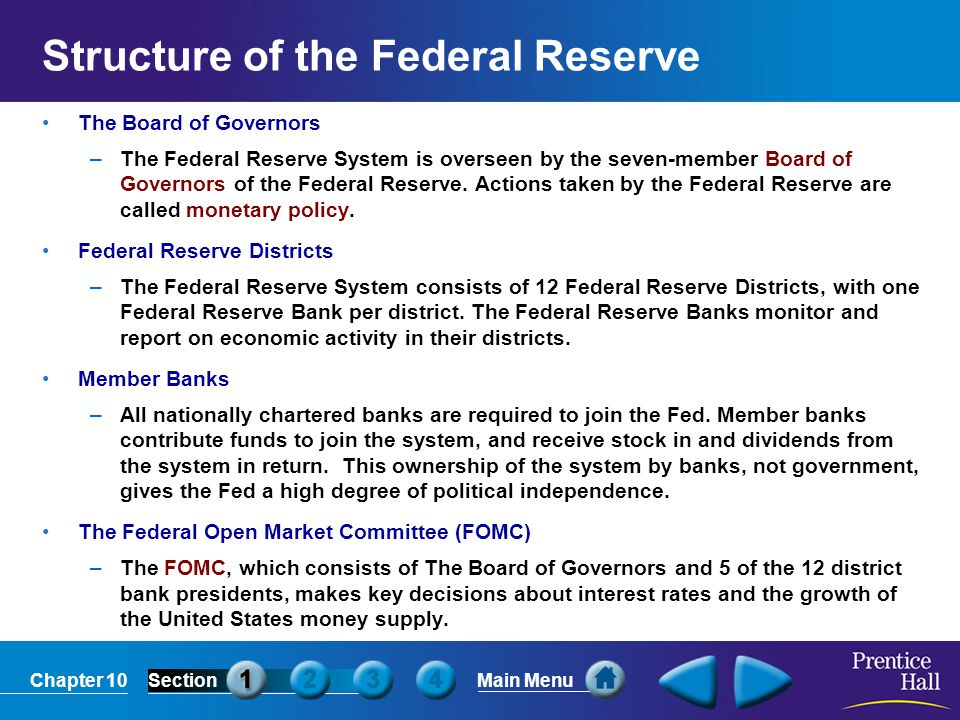 Structure of the Federal Reserve