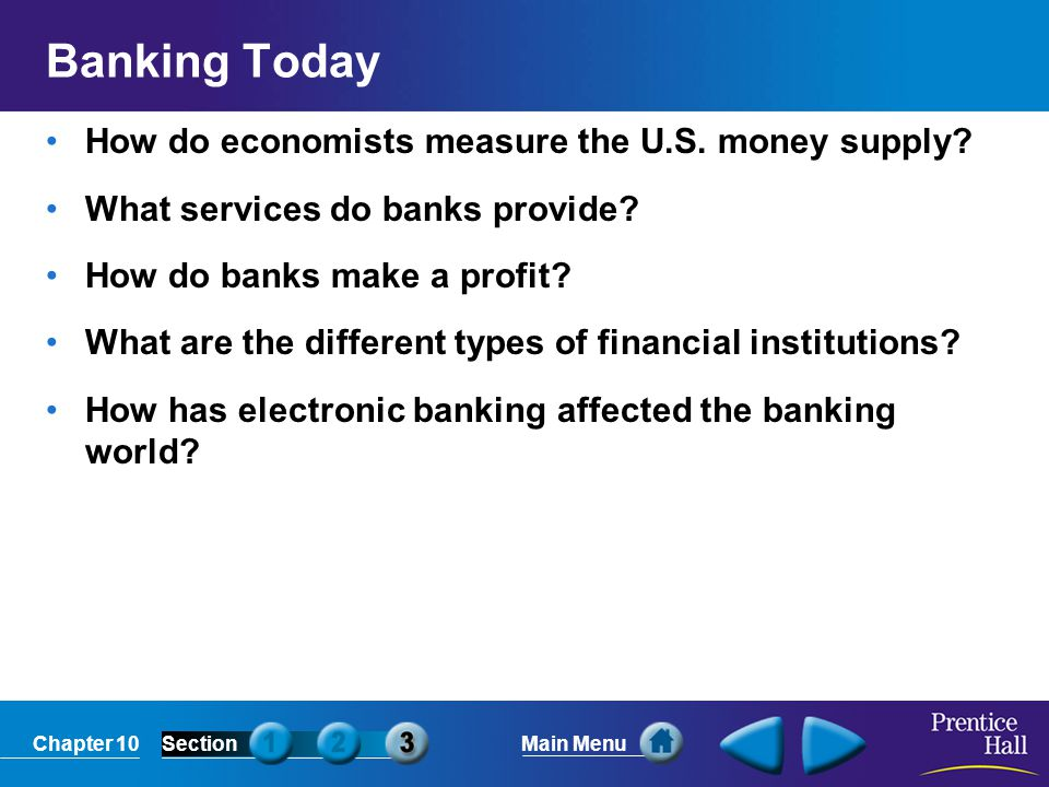 Banking Today How do economists measure the U.S. money supply