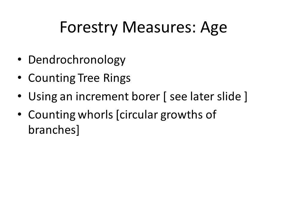 Forestry Measures: Age