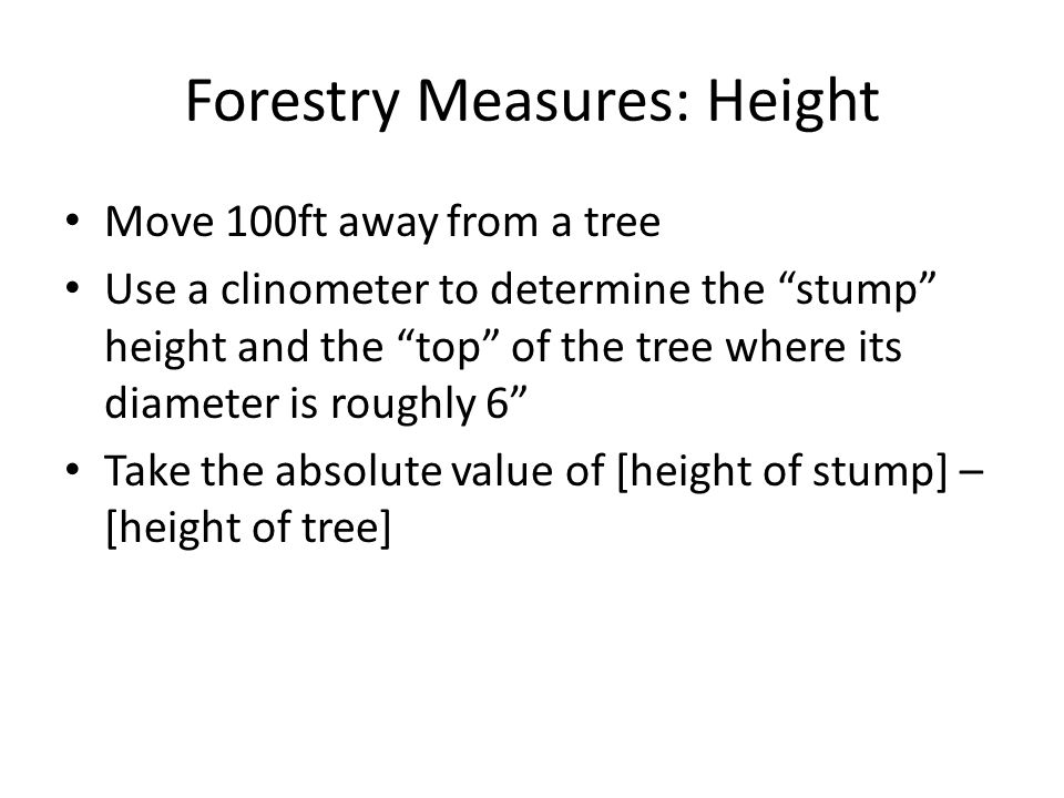 Forestry Measures: Height
