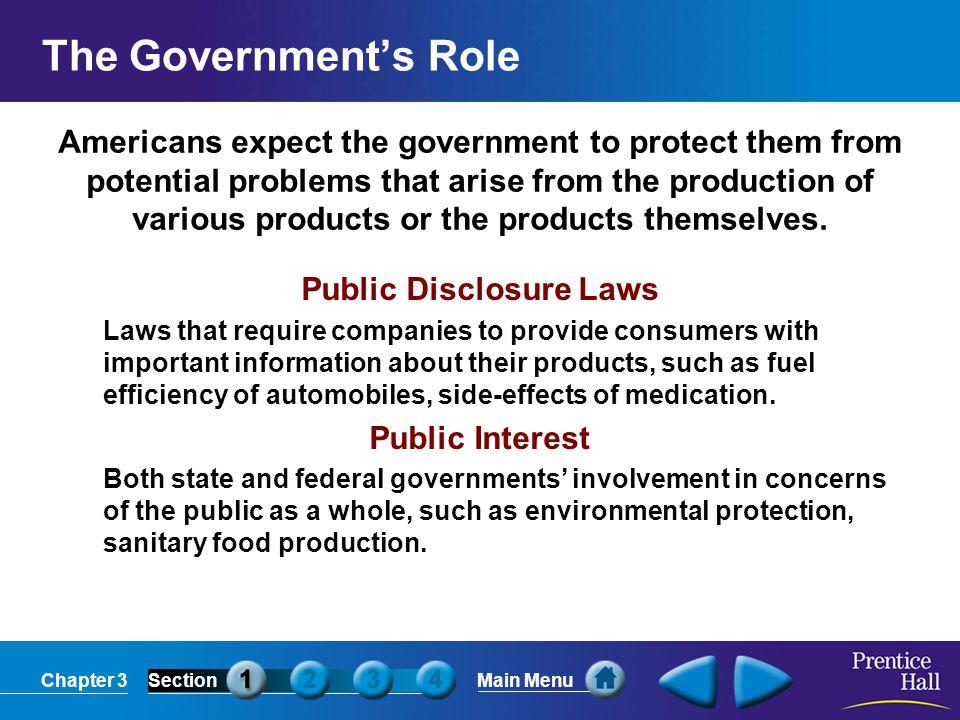 Public Disclosure Laws