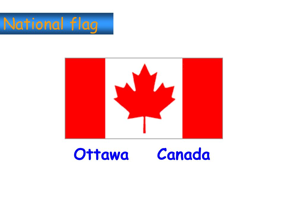 National flag Ottawa Canada