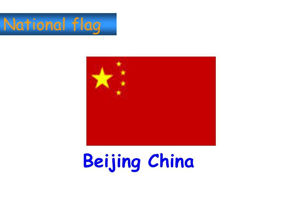 National flag Beijing China