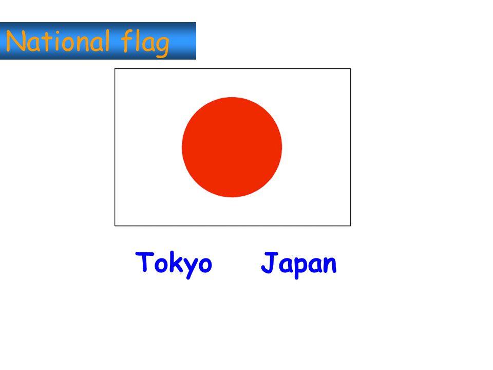 National flag Tokyo Japan