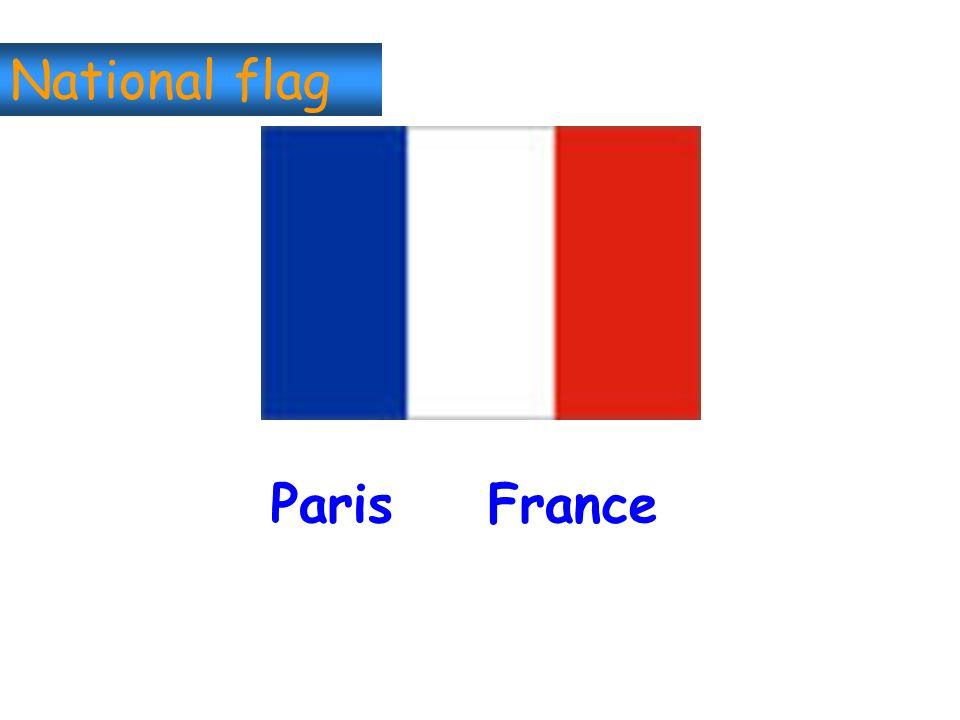 National flag Paris France