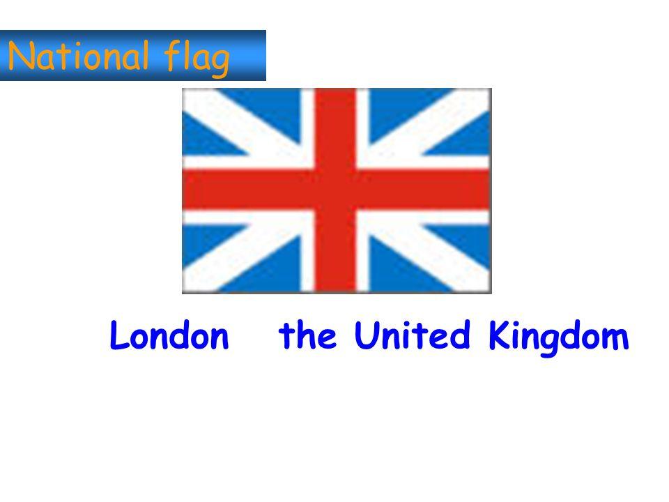 National flag London the United Kingdom