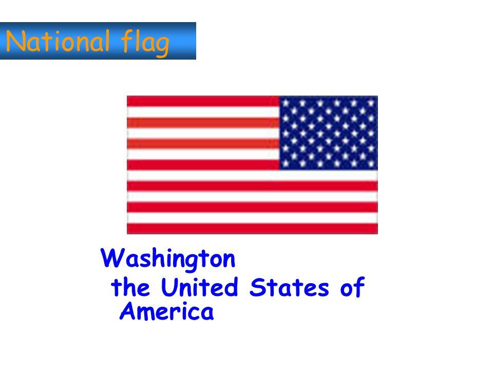 National flag Washington the United States of America