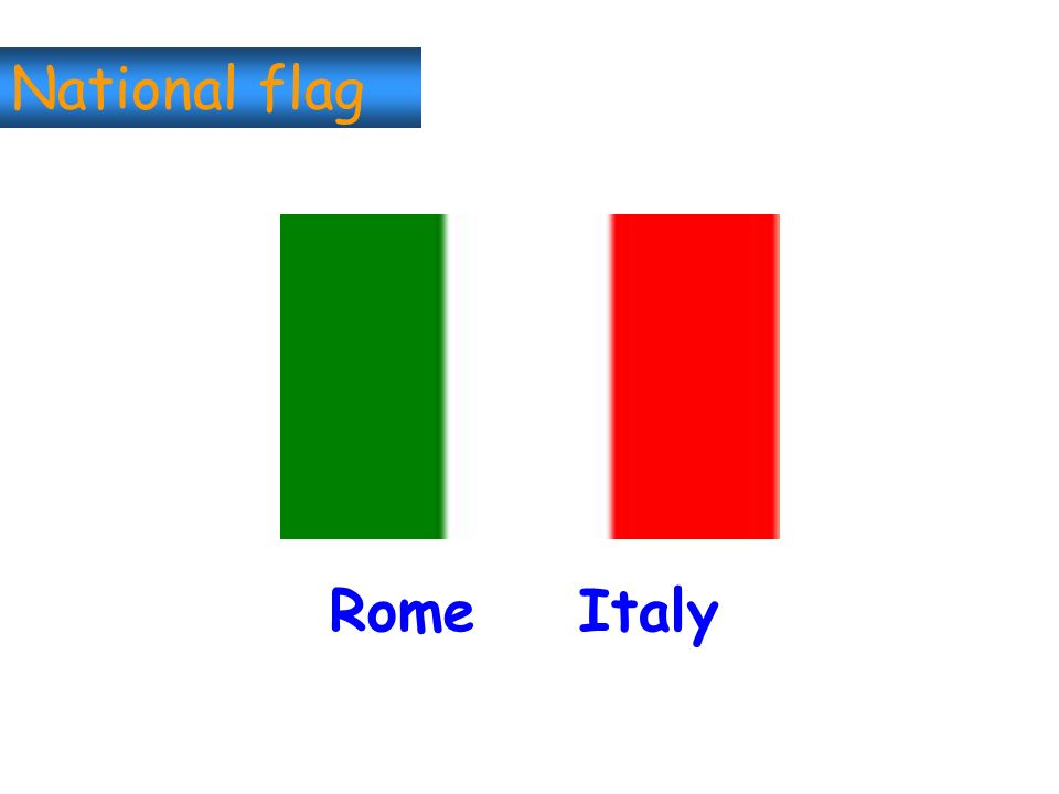 National flag Rome Italy