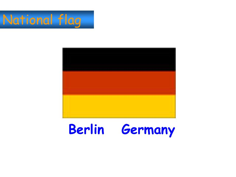 National flag Berlin Germany