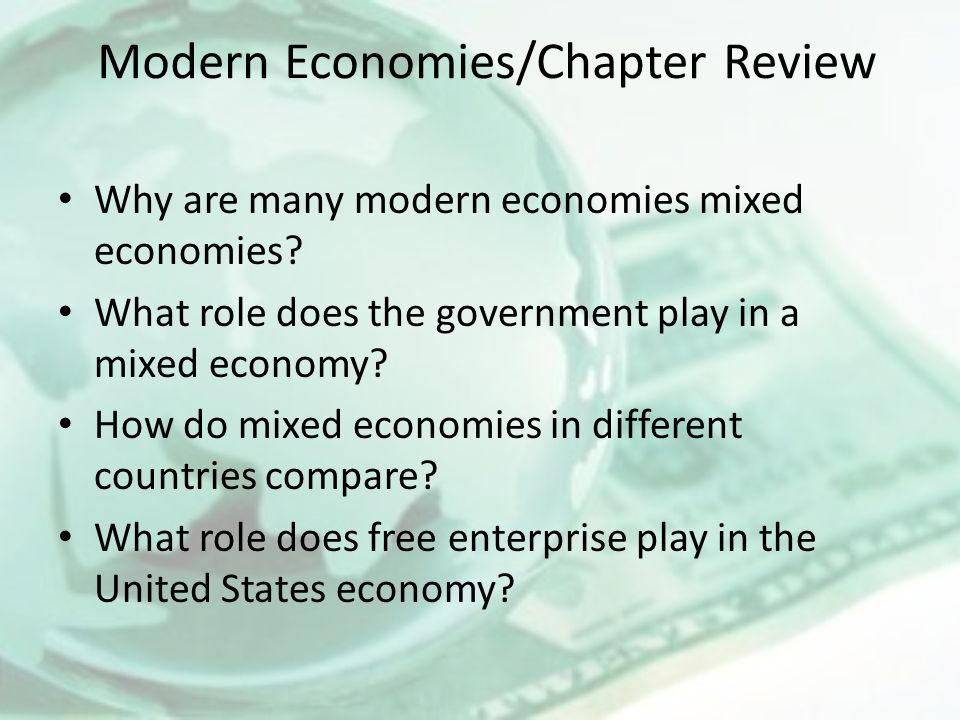 Modern Economies/Chapter Review