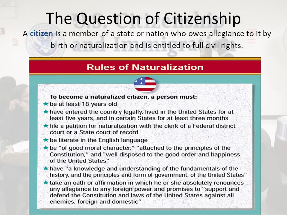 The Question of Citizenship