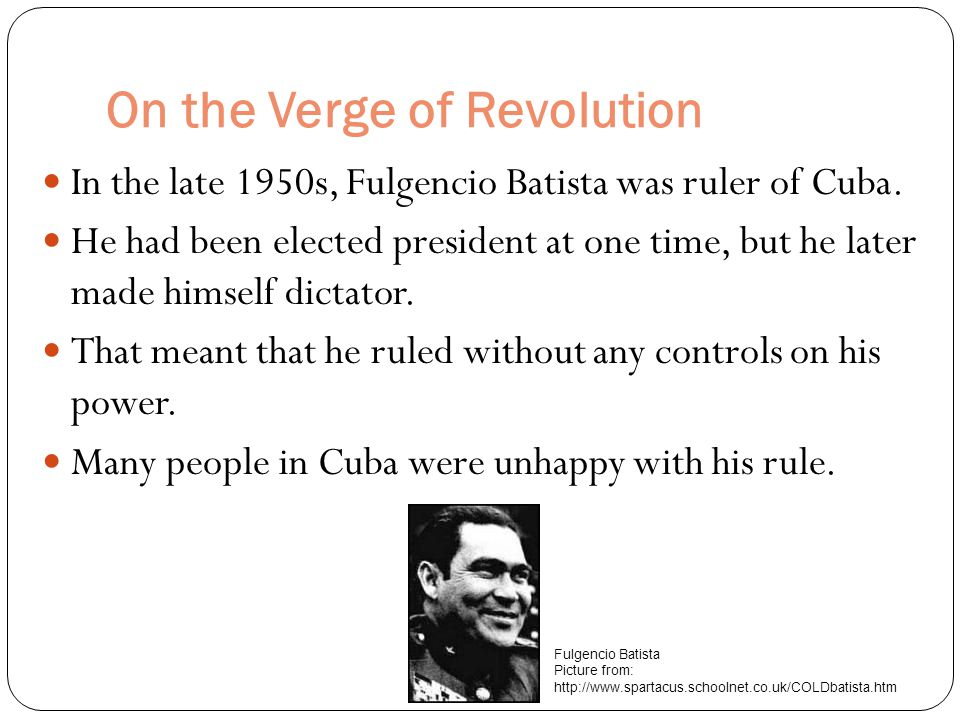 On the Verge of Revolution