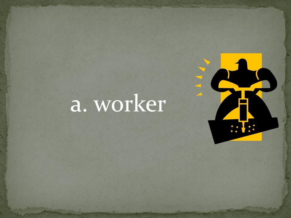 a. worker