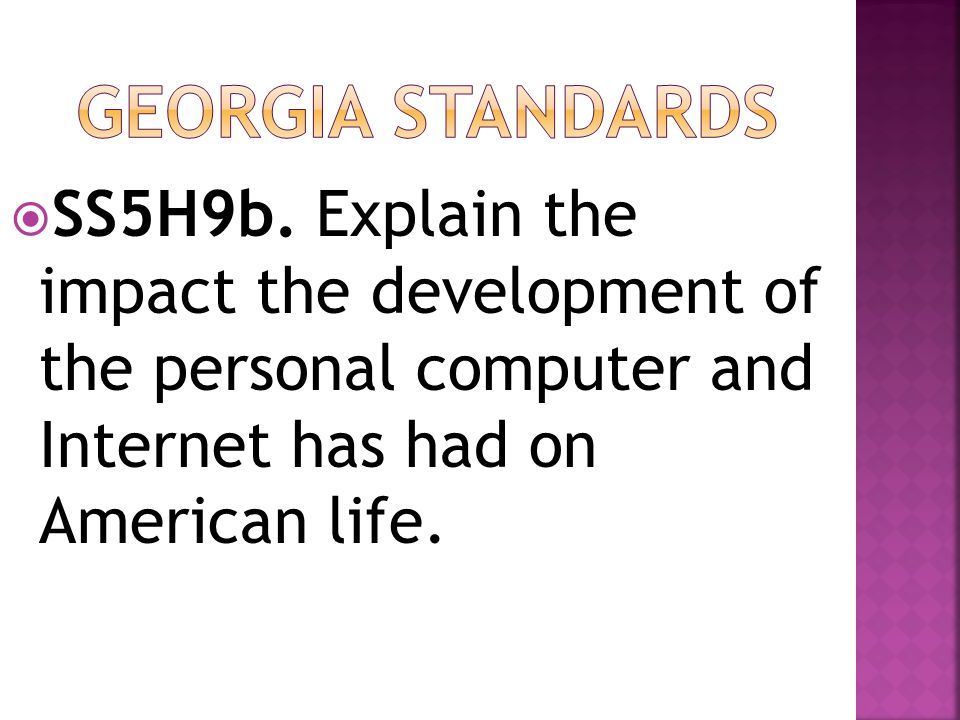 Georgia Standards SS5H9b.