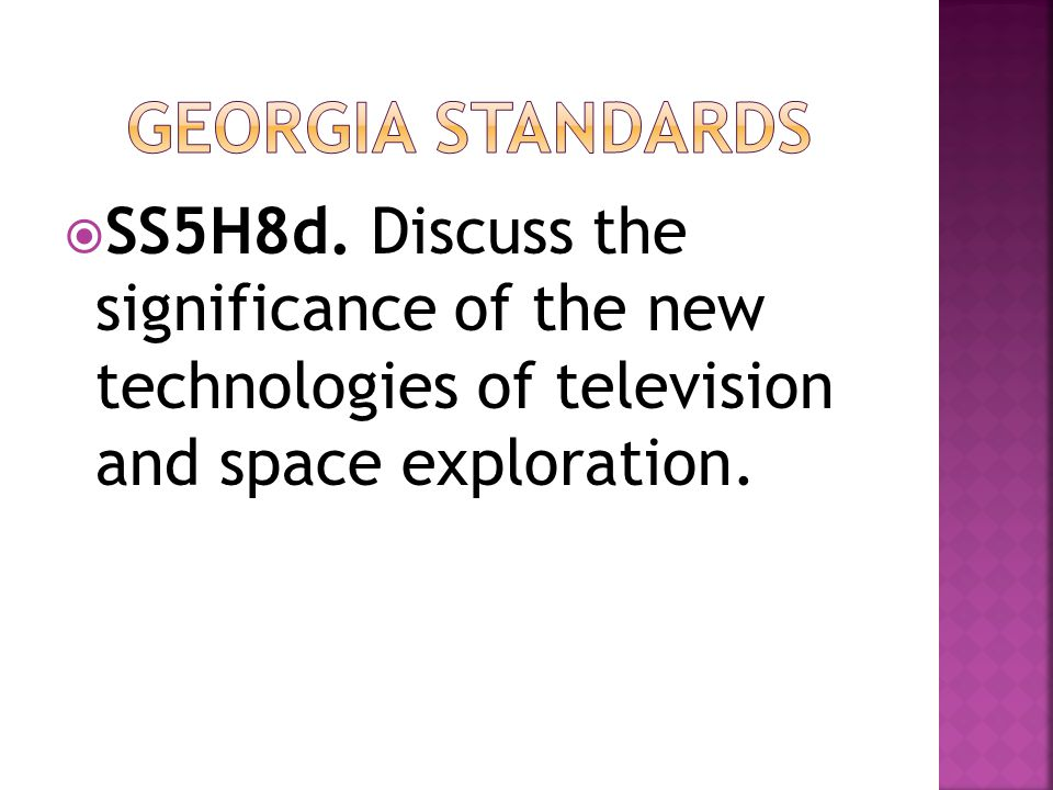 Georgia standards SS5H8d.