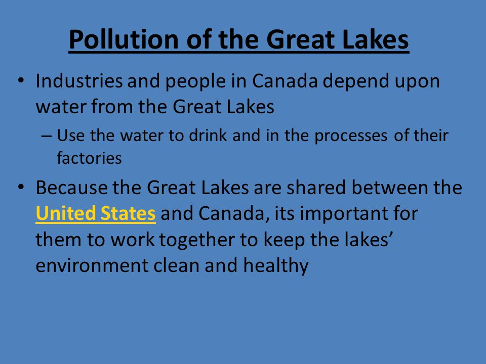 Pollution of the Great Lakes