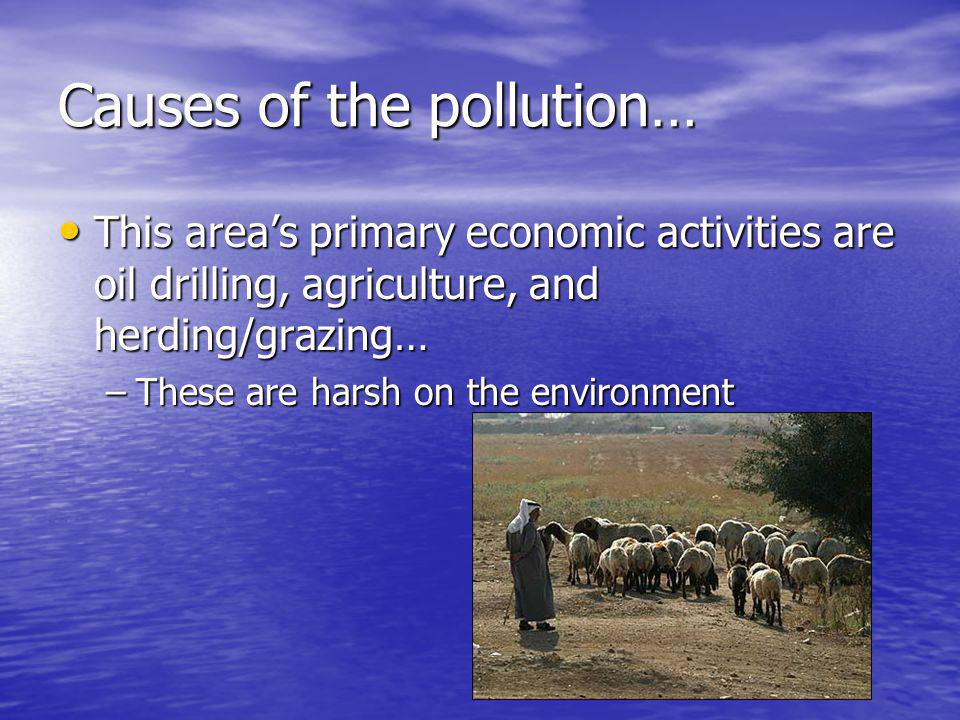 Causes of the pollution…