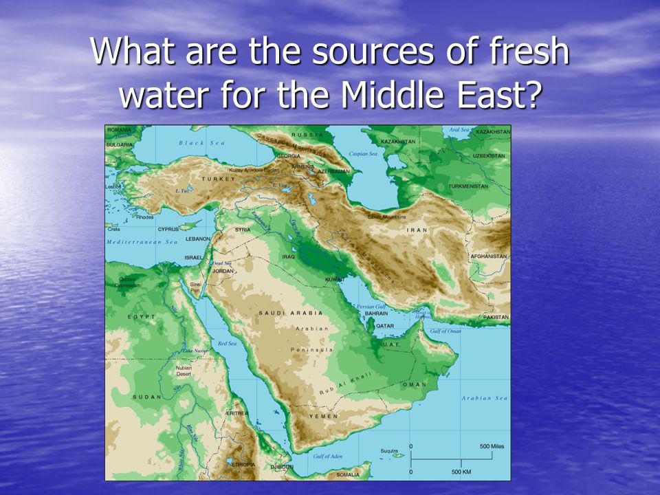 What are the sources of fresh water for the Middle East
