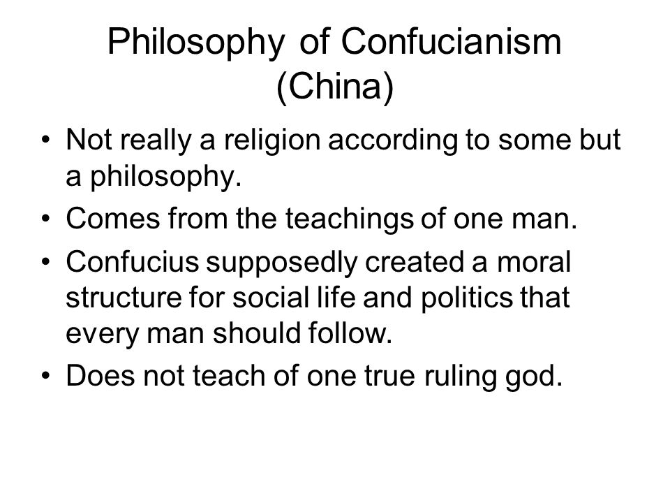 Philosophy of Confucianism (China)