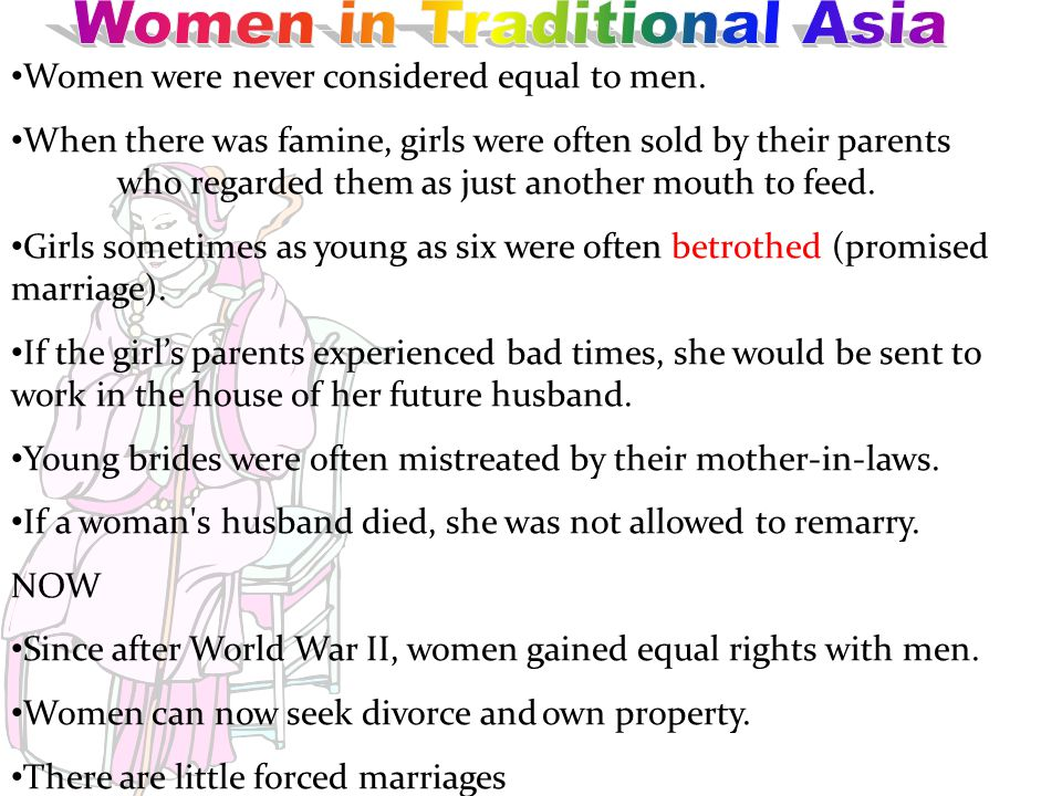 Women in Traditional Asia