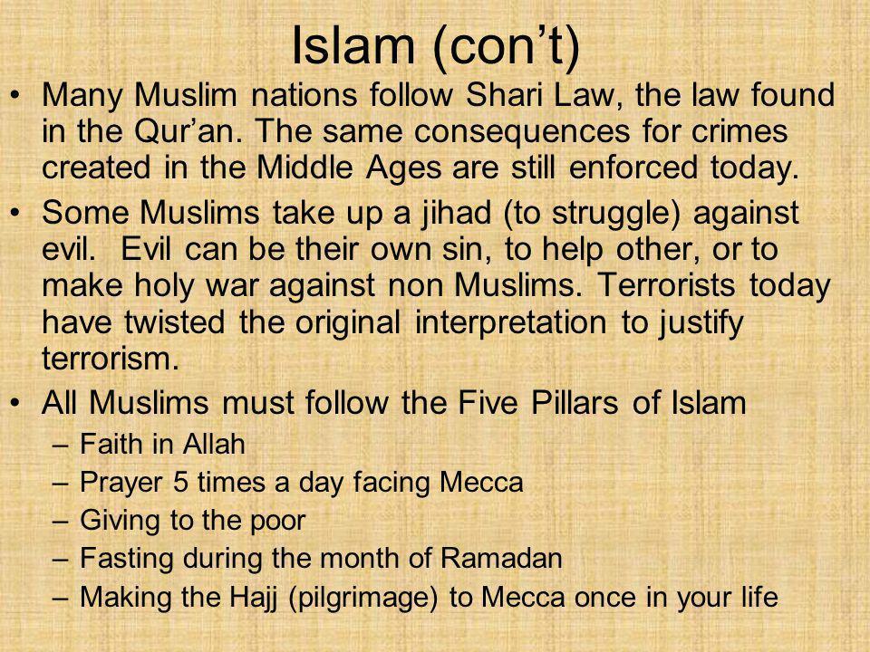 Islam (con't)