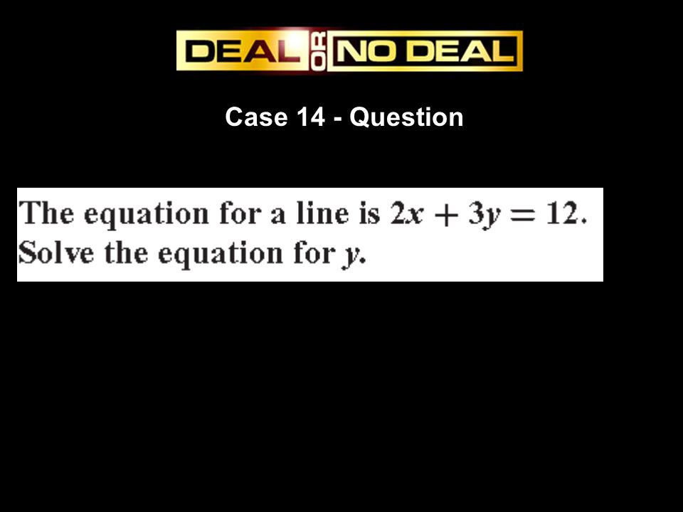 Case 14 - Question