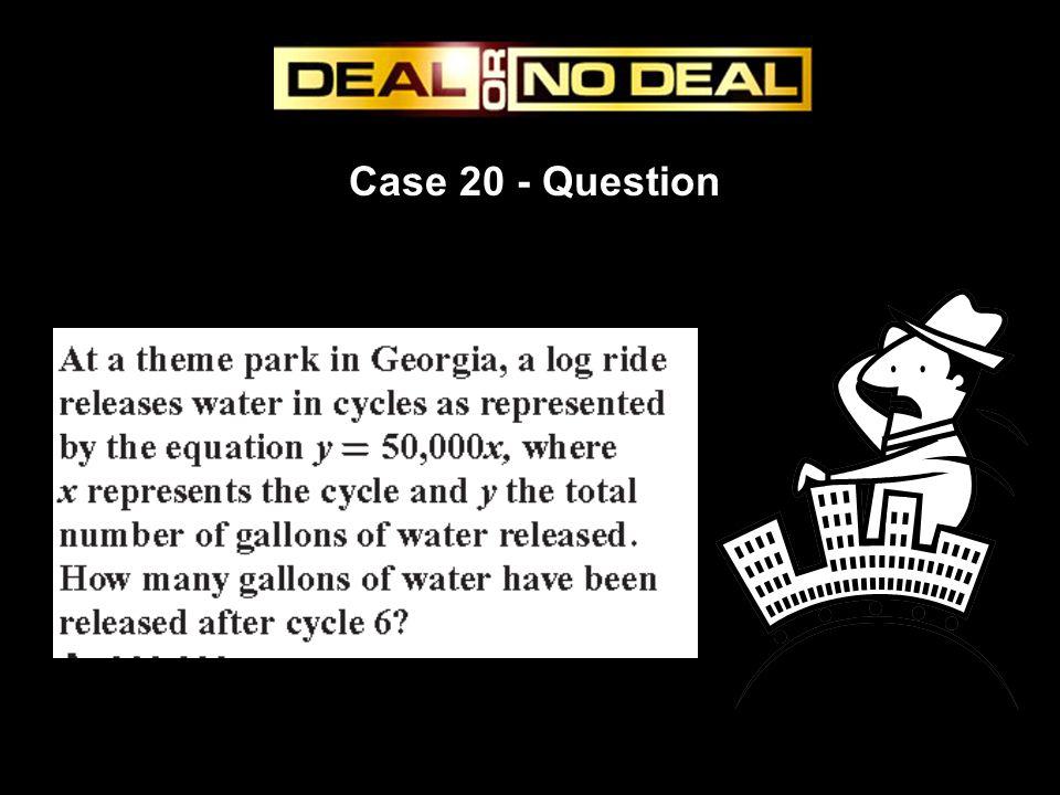 Case 20 - Question