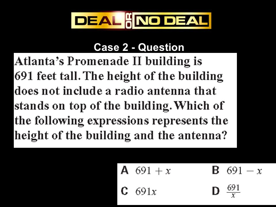 Case 2 - Question