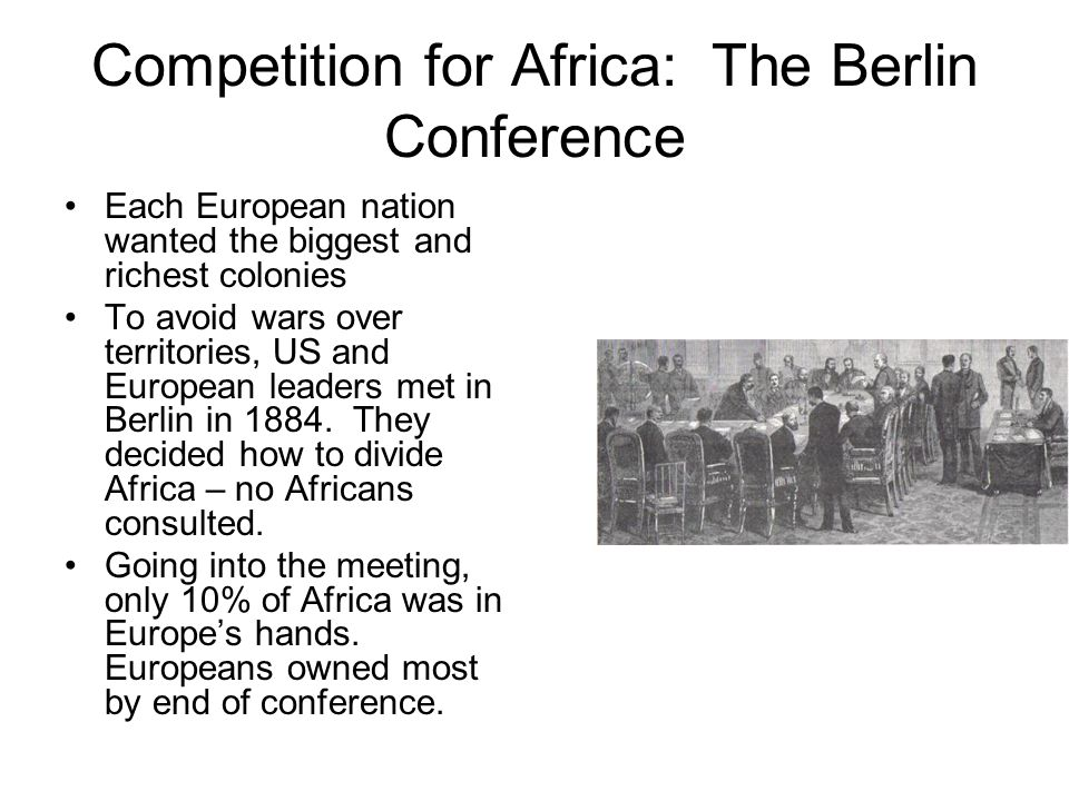 Competition for Africa: The Berlin Conference
