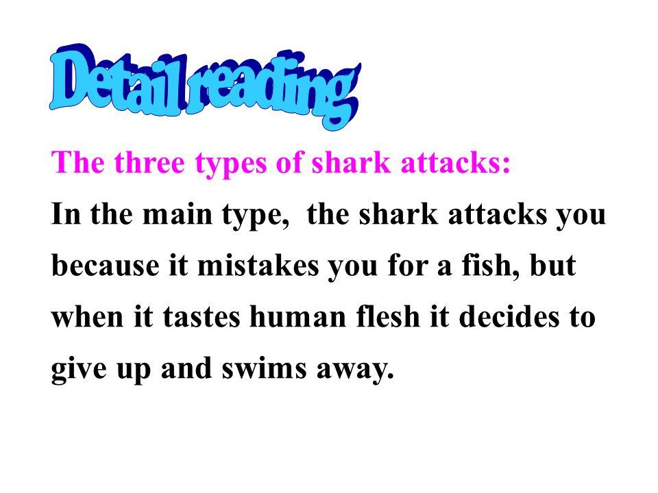 Detail reading The three types of shark attacks: