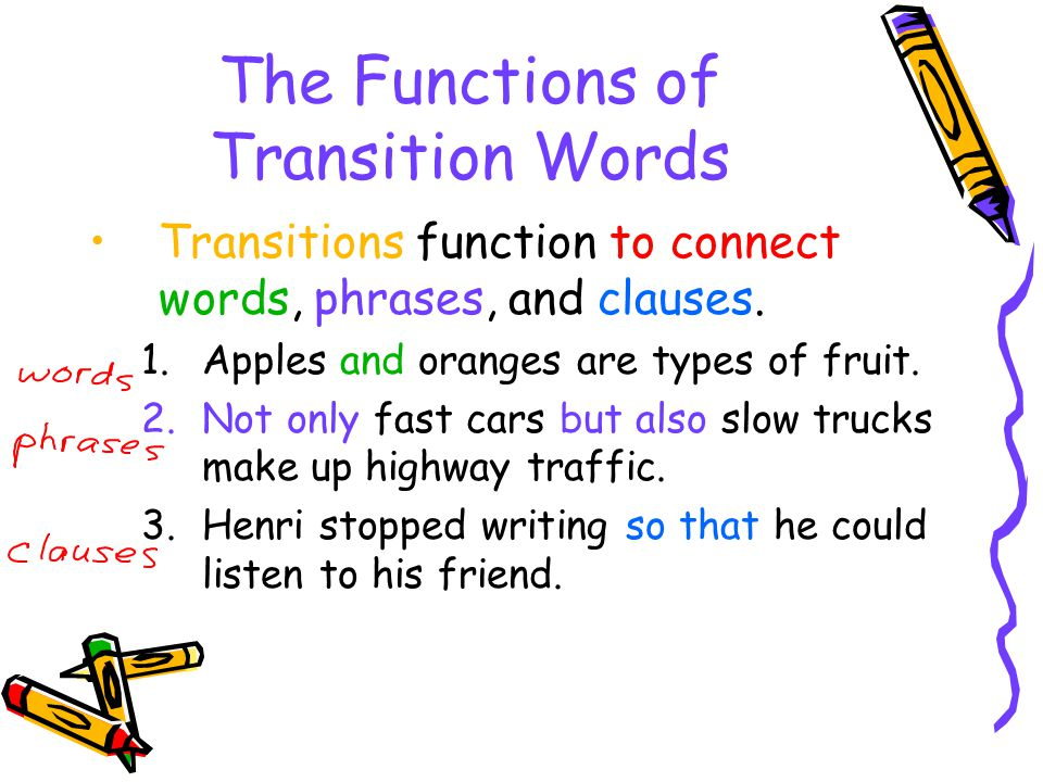 essay transitional phrases list