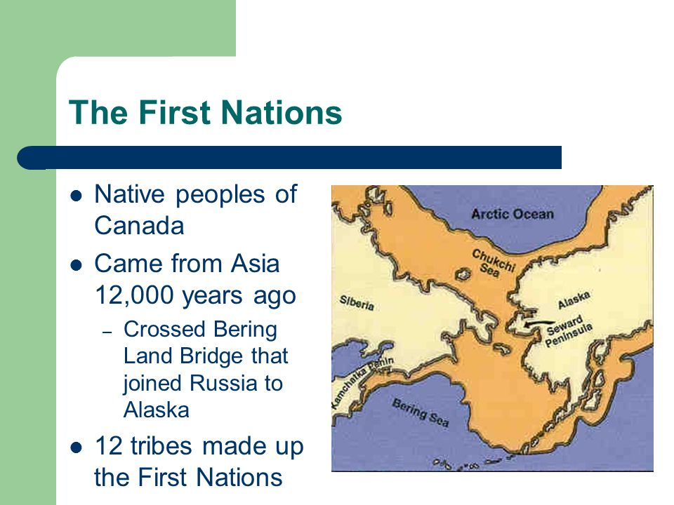 The First Nations Native peoples of Canada