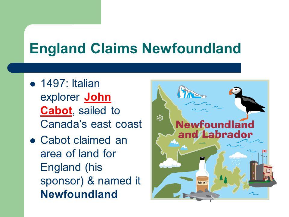 England Claims Newfoundland